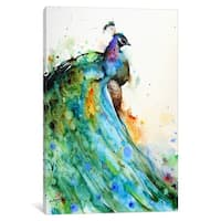 Pheasant Abstract Canvas Wall Art