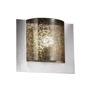 Justice Design Group Fusion Framed 1-light Nickel Wall Sconce