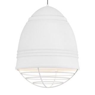 LBL Loft Grande 3 Light Rubberized White Exterior with White Interior with White Cage LED Pendant