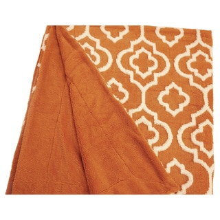"BOON Jacquard Sherpa Throw Blanket 50""x60"""