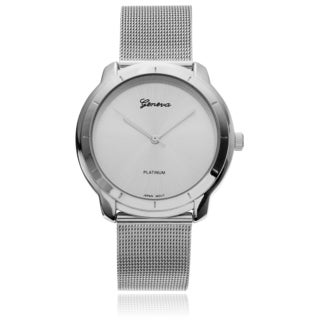 Geneva Platinum Men's Metal Mesh Band Watch