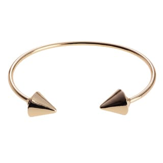 Journee Collection Metal Spike End Cuff Bracelet