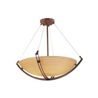 Justice Design Porcelina Crossbar 48 inch Round Pendant, Sawtooth