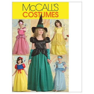 Children's/Girls' Princess and Witch Costumes-CCE (3-4-5-6)