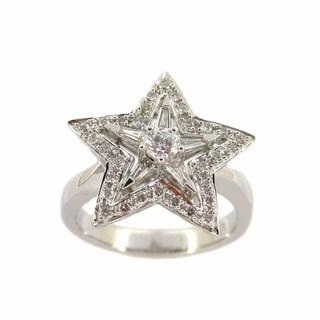 Kabella 18k White Gold Star 3/5ct TDW Diamond Ring (G-H, SI1-SI2)