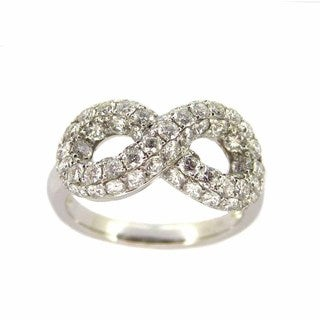 Kabella 18k White Gold 1 7/8ct TDW Diamond Infinity Ring (G-H, SI2-SI3)