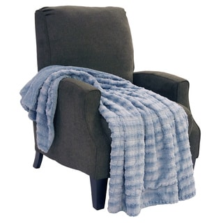 "BOON Garret Faux Fur Throw Blanket 50""x60"""