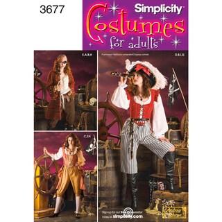 SIMPLICITY MISSES PIRATE COSTUMES-14,16,18,20