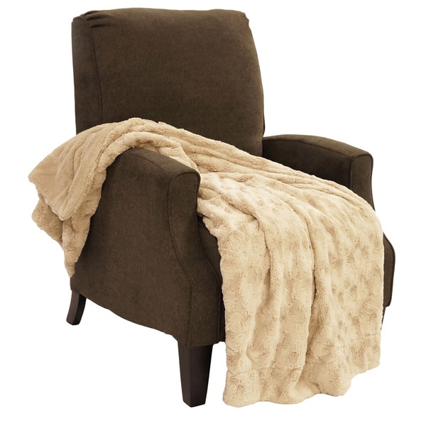 "BOON Swirl Faux Fur Throw Blanket 50""x60"""