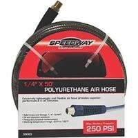 Speedway 50-foot PU Air Hose, 1/4 inch diameter