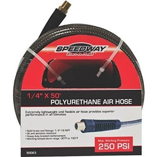 Speedway 50-foot PU Air Hose, 1/4 inch diameter