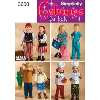 Simplicity Toddlers Costumes-1/2,1,2,3,4