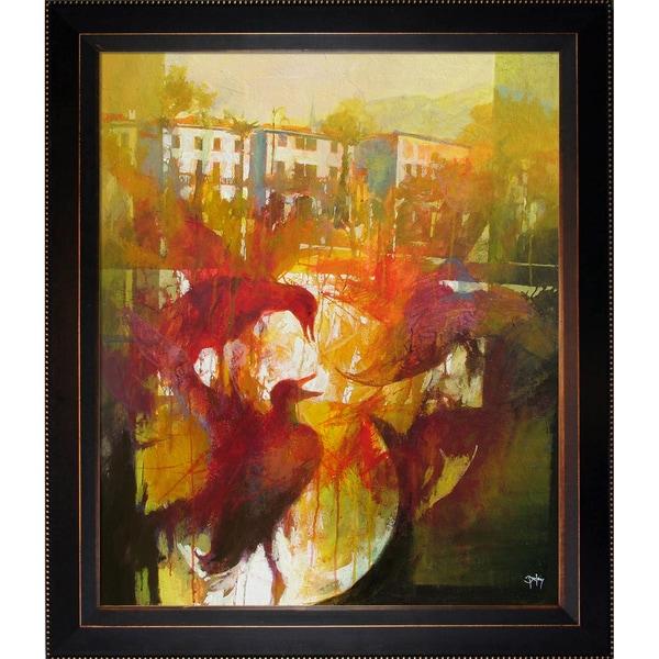 Alex Bertaina 'Omaggio a Mergozzo' Framed Fine Art Print