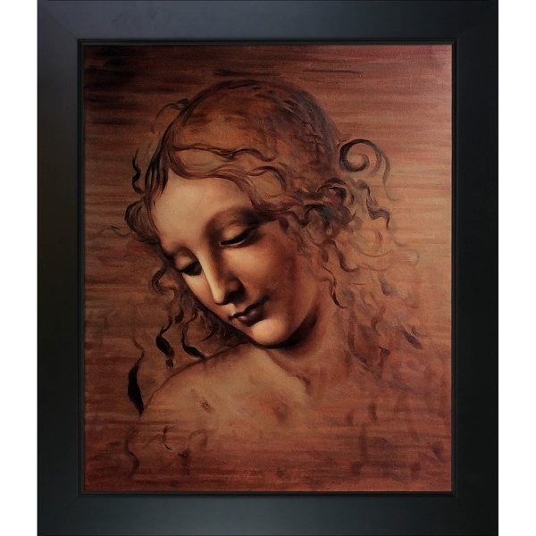 Da Vinci 'Female Head (La Scapigliata)' Hand Painted Oil Reproduction