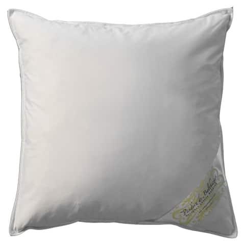 Pandora de Balthazar Euro Square Hungarian Goose Feather Fill Pillow - White