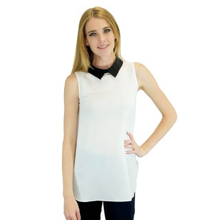 Relished Betsy Black Collar Top