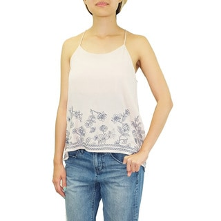 Relished Women's Contemporary Helsinki Floral Embroidered Racerback Tank