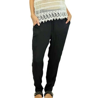 Relished Women's Black Sequin Detail Harem Pants