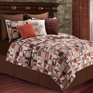 Hunter Lodge Themed Cotton Quilt (Shams Not Included)