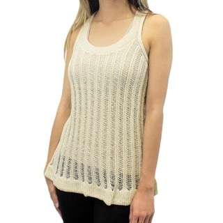 Relished Women's Contemporary Earl Grey Ice Cream Knit Top