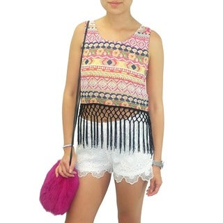 Relished Women's Contemporary Lulumari Healer Fringe Crop Top
