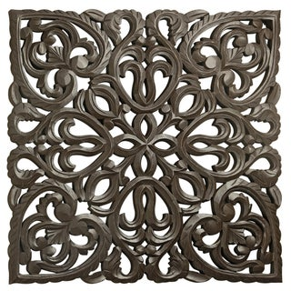 "24"" Brown Solaris Eight Wooden Wall Panel"