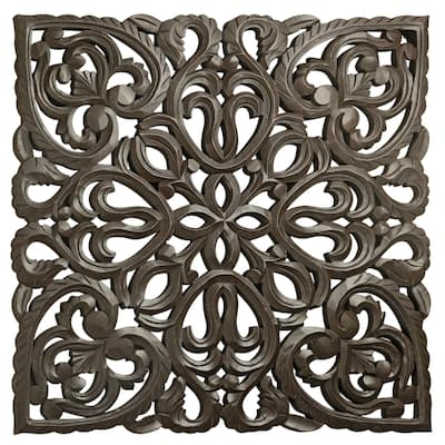 """12"""" Brown Solaris Eight Wooden Wall Panel"""
