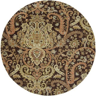 Hand-Tufted Wisbech Semi-Worsted New Zealand Wool Rug (8' Round)