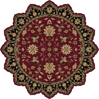 Copper Grove Kavir Hand-Tufted Border Indoor Wool Area Rug - 8' Star
