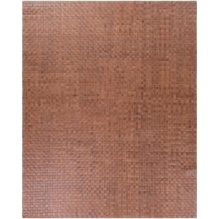 Hand-Woven Burslem Crosshatched Leather Rug (8' x 10')