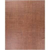 Hand-Woven Burslem Crosshatched Leather Area Rug - 8' x 10'
