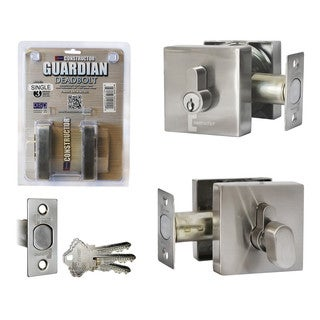 Guardian Deadbolt Square Door Single Cylinder Lock Set