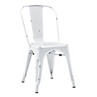 Metal White Cafe Chair