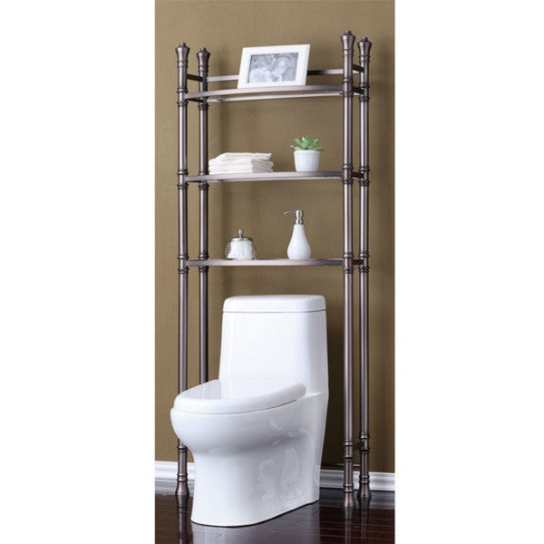 Best Living Monaco Brushed Titanium Bath Etagere Space Saver Shelf ...