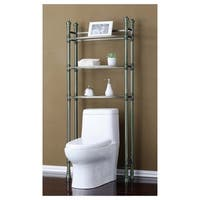Space saver over the toilet rack brown free shipping for Chapter bathroom space saver white assembly instructions