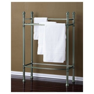 Best Living Monaco Brushed Titanium Towel Stand - Silver