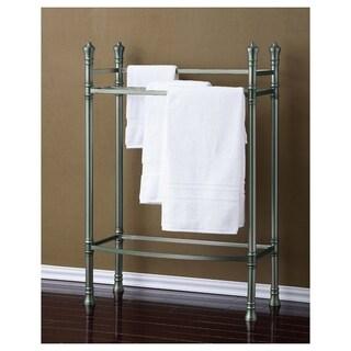 Best Living Monaco Brushed Titanium Towel Stand