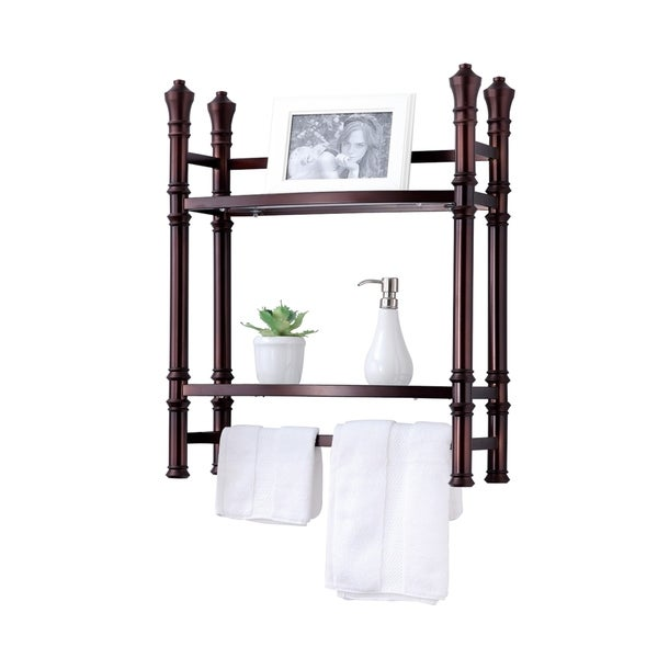 Best Living Monaco Oil Rubbed Bronze Wall-mount Small Etagere