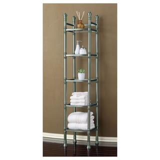 Best Living Monaco Brushed Titanium Tall Shelf Etagere