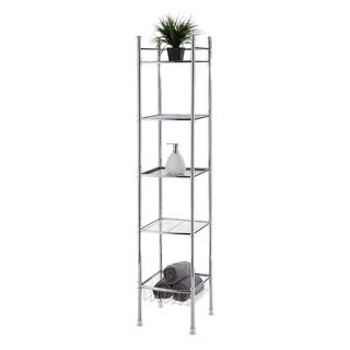 Best Living Bath Chrome Plated 5-tier Tower Shelf - Silver