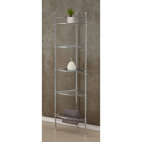Best Living Bath Chrome Plated 5-tier Corner Shelf