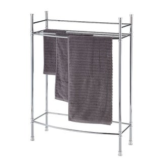 Best Living Bath Chrome Plated Towel Stand - Silver