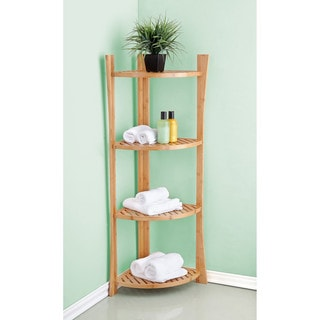 Best Living Bamboo Bath 4-tier Corner Shelf