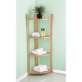 Best Living Bamboo Bath 4-tier Corner Shelf - N/A