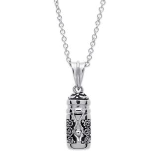 Prayer Keeper Antiqued Capsule Pendant Necklace|https://ak1.ostkcdn.com/images/products/10540021/P17621023.jpg?impolicy=medium
