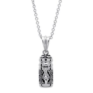 Prayer Keeper Antiqued Capsule Pendant Necklace