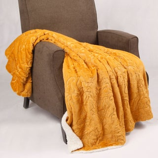 BOON Embroidery Batik Sherpa Throw Blanket (More options available)