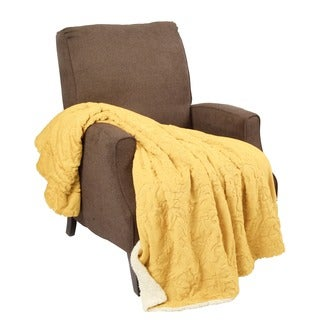 "BOON Embroidery Batik Sherpa Throw Blanket - 50"" x 60"""