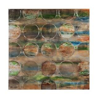 Bombay Turquoise Circles Canvas