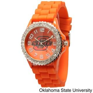 Olivia Pratt Women's Officially Licensed College Sports Rhinestone Silicone Watch (Option: Oklahoma State University)